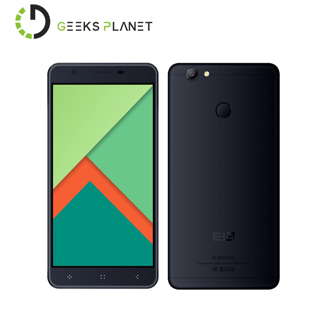 Original Elephone C1X 2GB RAM 16GB ROM MTK6737 Quad Core 5.5 Inch 2.5D HD Screen Touch ID Android 6.0 4G LTE Smartphone