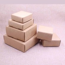 20pcs  New DIY Kraft Paper Box Gift For Wedding Favors Birthday Party Candy Cookies Christmas party gift ideas