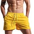 2016 Nuevos Hombres de Secado rápido Pantalones Cortos de Mar Moda Corto Maillot De Bain Bermudas de Playa Sexy Sólidos Pantalones Cortos de Los Hombres SD01