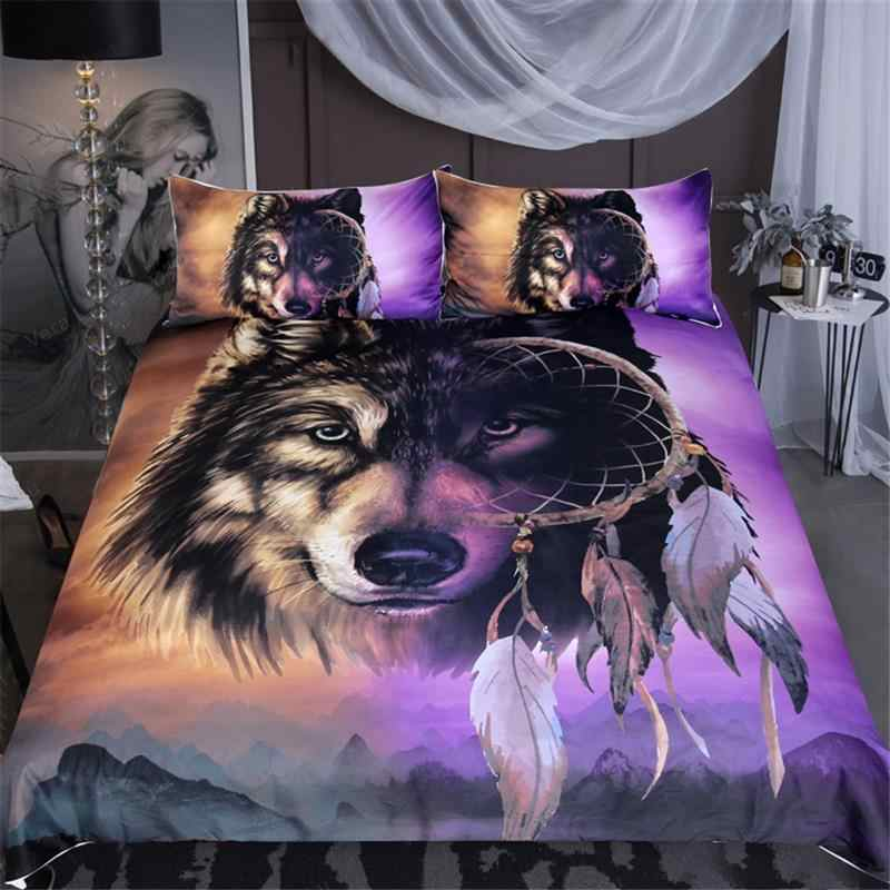 LOVINSUNSHINE Wolf King Bedding Set Queen Comforter Bed Set 3d Duvet Cover Set SJ01#