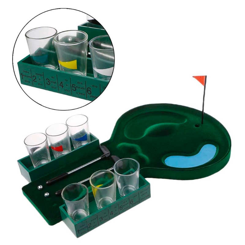 Mini Golf Drinking Board Game Set 6 Shot Glasses Party Toys Gifts Family Funnyfree shipping avr sx460 5 pieces sx460 free shipping