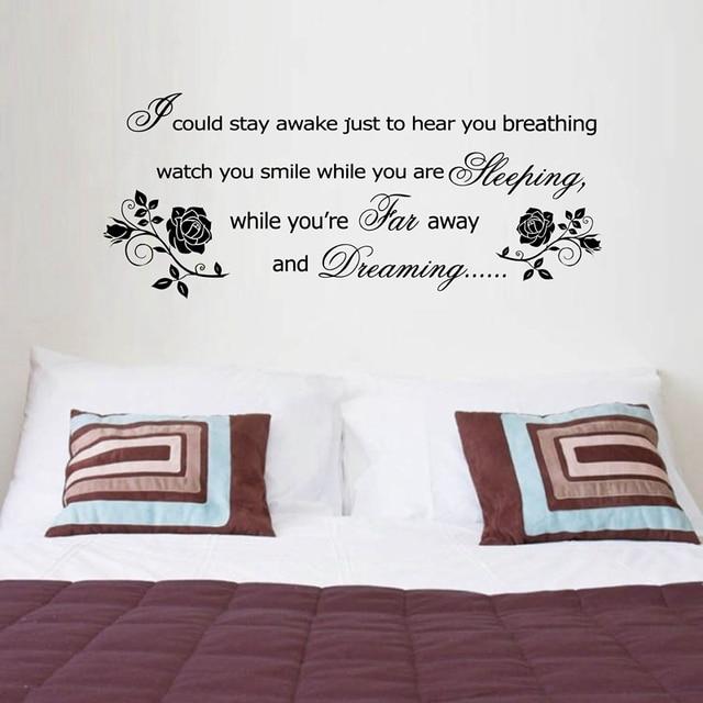 Aerosmith Breathing Quote Vinyl Wall Art Sticker Decal: Romantic Wall Stickers Bedroom Decor,Aerosmith Lyrics