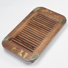 50*30*6 cm wood tray drawer tray wood carving small drainage Kung Fu tea a few