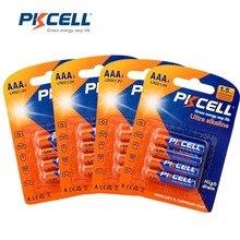 16 adet PKCELL alkalin pil LR03 1.5V AAA piller E92 AM4 MN2400 3A kuru pil elektronik termometre