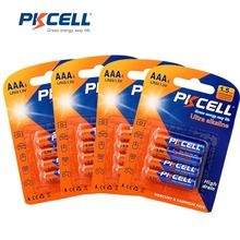 Bateria seca das baterias e92 am4 mn2400 3a da bateria alcalina lr03 1.5v aaa de 16 pces pkcell para o termômetro eletrônico