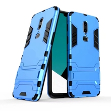 Case For Oneplus 6 Luxury Shockproof Armor Rubber Hard PC Cover Anti-Fall Soft Edge Full Back