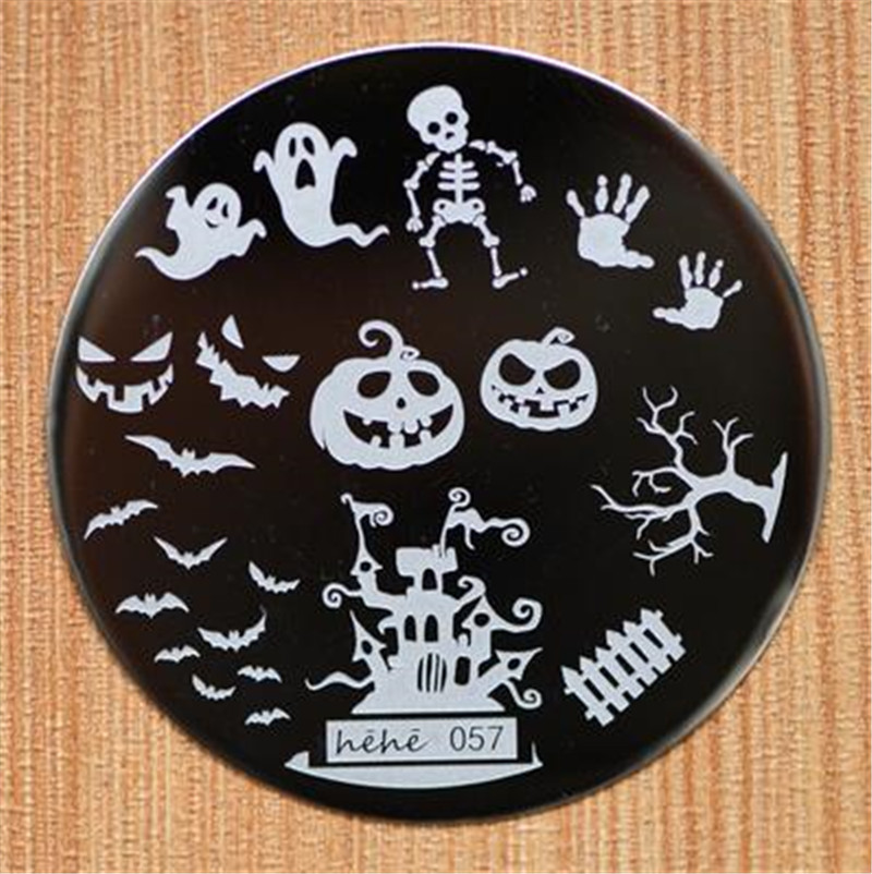 Halloween Design Round Stainless Steel Nail Plates hehe60 Series ...