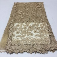 2018 Latest African Cord Lace Fabric African Swiss Voile Lace High Quality French Lace Fabric For