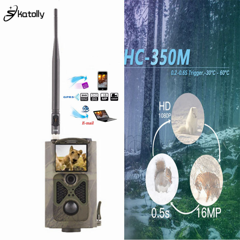 Skatolly HC350M Waterproof Outdoor Wildlife Hunting Camera Photo Traps Surveillance Trail Hunting Camera Trap Cam GPRS MMS GSM surveillance camera hunting mms gsm gprs camera 12mp 1080p motion detector for animal trap forest outdoor hunter camera