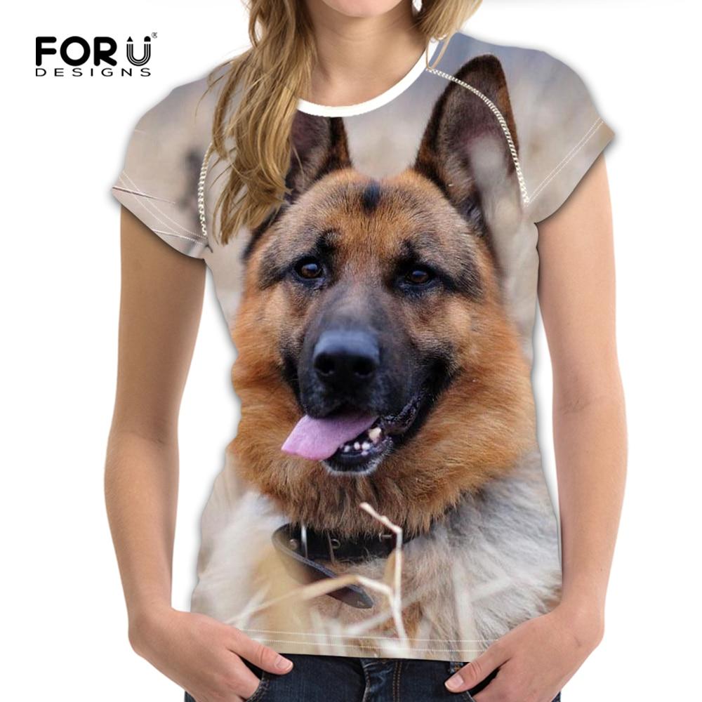 Forudesigns Animale T Delle Donne Della Camicia 3d Cane Da Pastore