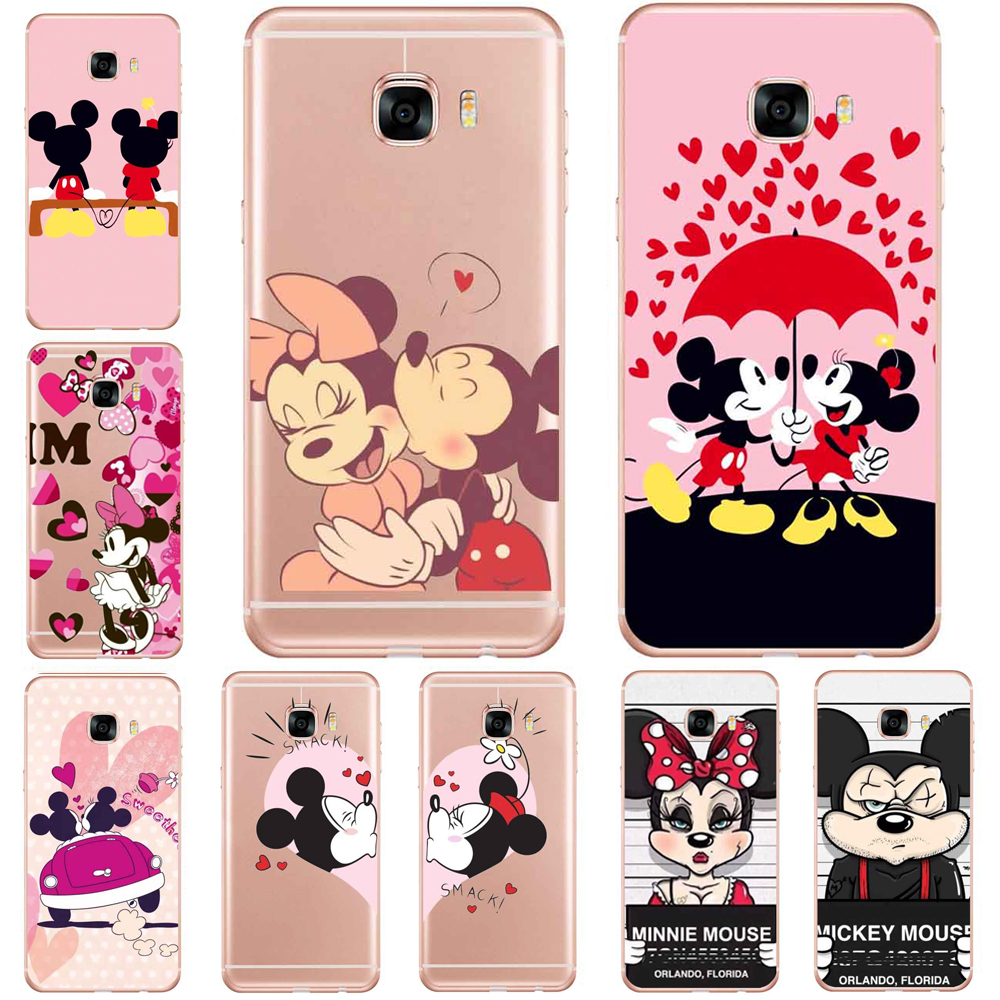 Soft TPU Clear Phone Cases For SamSung Galaxy S6 S7 Edge S8 PLUS Silicone Phone Back Cover Case Coque Hot TV mickey Patterned