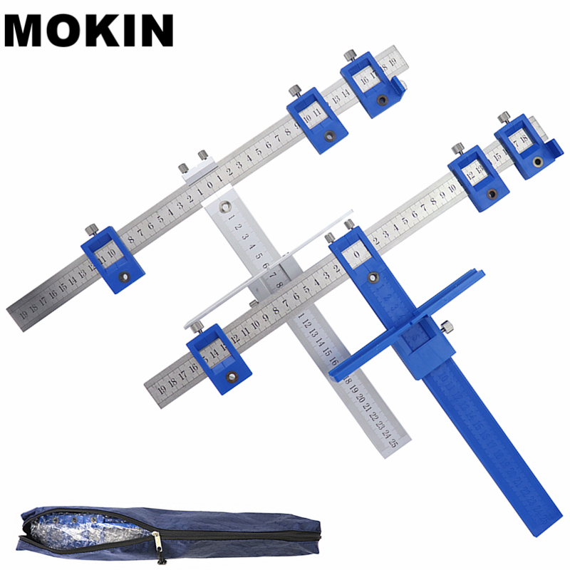 Schrank Drill Guide Hülse Schublade Ziehen Tasche Loch Jig Kit Für Schublade Schrank Hardware Dowelling Loch Stanzen Holzbearbeitung Werkzeuge