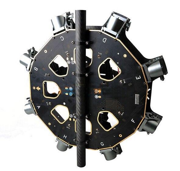 Nouveau panneau central principal en Fiber de carbone 8 axes avec panneau PCB avec cadre de Tube de Support 25mm pour bricolage pliable Multicopter Octocopter FPV