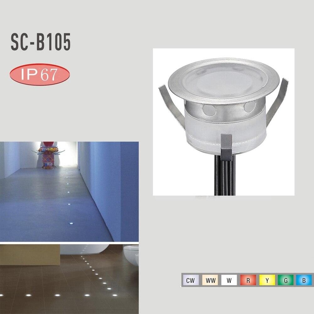Нержавеющаясталь встраиваемый лестница IP67 Светодиодная лампа 30 мм подземный свет 10 шт. Водонепроницаемый путь землю похоронен Ландшафтно...