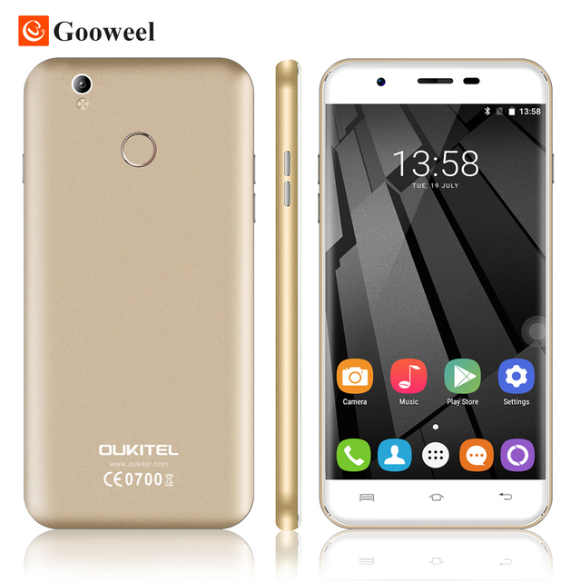 Oukitel U7 Plus 5.5 inch SmartPhone MTK6737 Quad Core 4G Cell phone 2G RAM 16G ROM 5.0MP+13.0MP Camera Android 6.0 Mobile phone