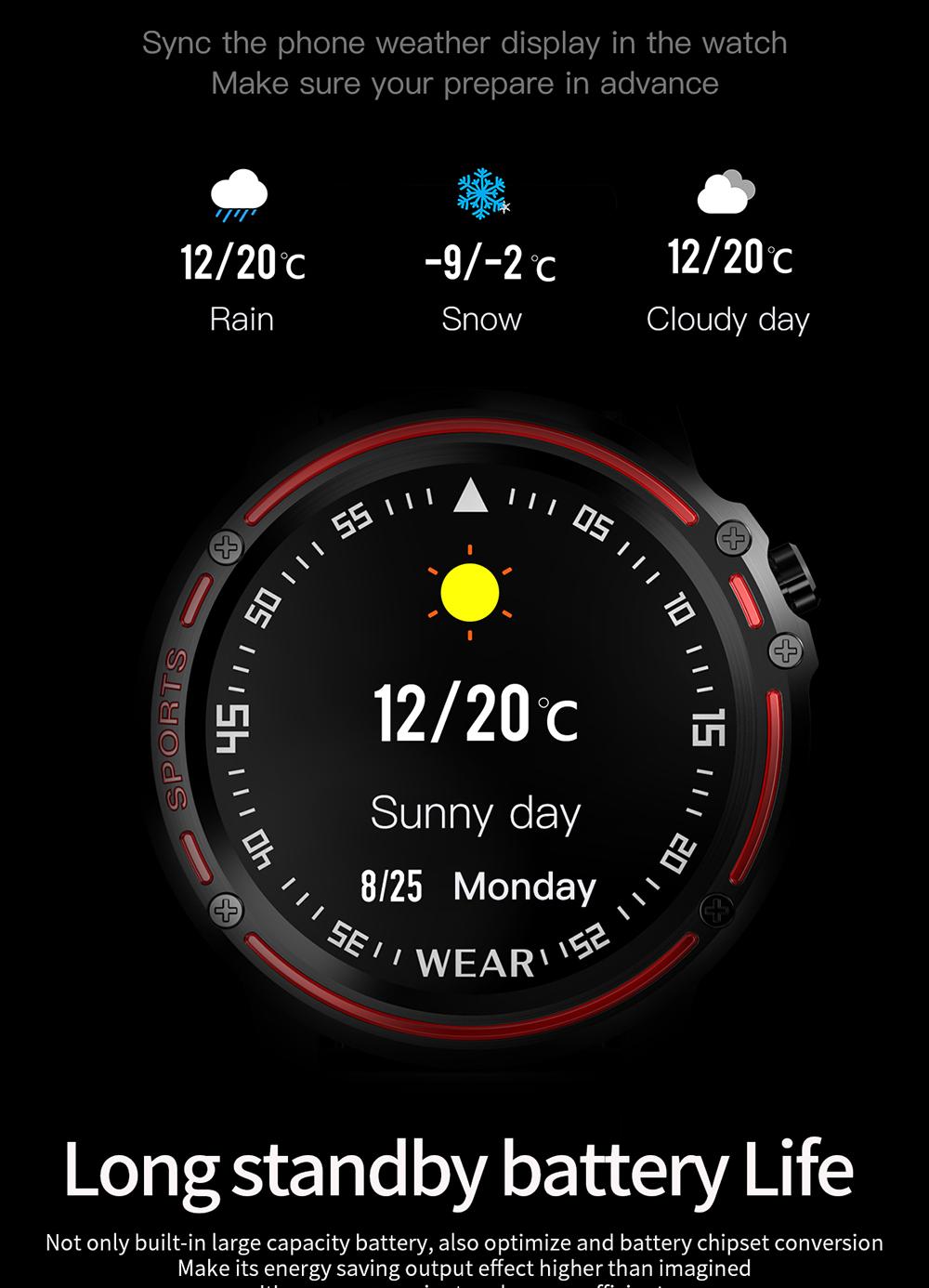 Reloj inteligente L8 IP68 para Hombre, Reloj inteligente resistente al agua con ECG presión arterial mediante PPG, relojes deportivos para fitness 16