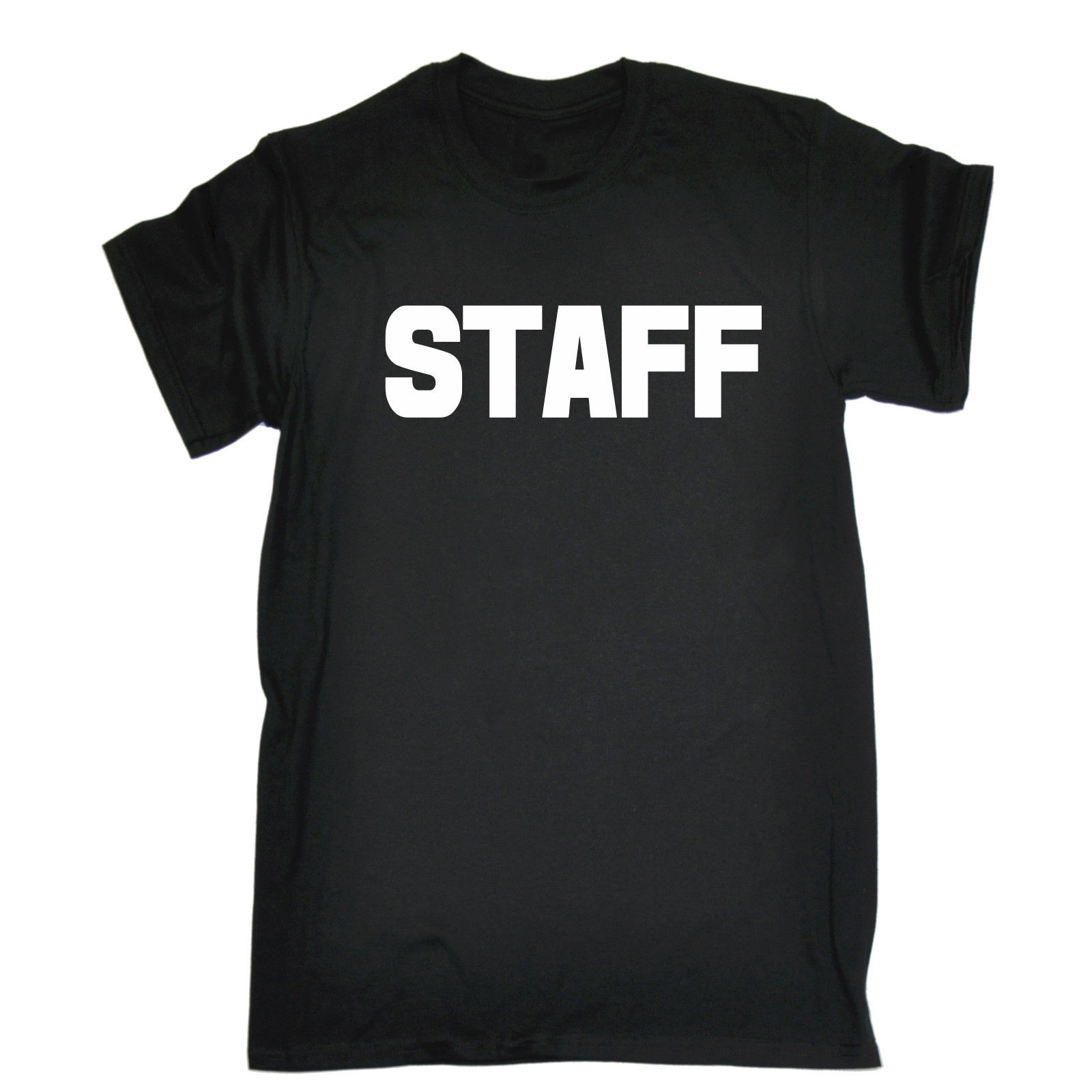 STAFF LARGE FRONT & BACK T SHIRT Work Uniform Workwear Bar Pub Birthday Gift Summer Short Sleeves Cotton T Shirt Fashion-in T-Shirts from Men's Clothing on AliExpress - 11.11_Double 11_Singles' Day 1