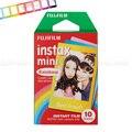 Fujifilm instax mini 8 film 3 pulgadas de fotos de papel del arco iris 10 unids para 7 S 25 8 50 s 90 Instax Mini Cámara y COMPARTIR Impresora de Teléfonos Inteligentes