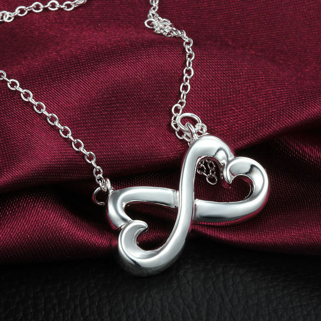 Charm Fashion Infinity Pendant Necklaces Collares For Women Clavicle Necklace Wedding Colar Jewelry Necklace & Pendant 3