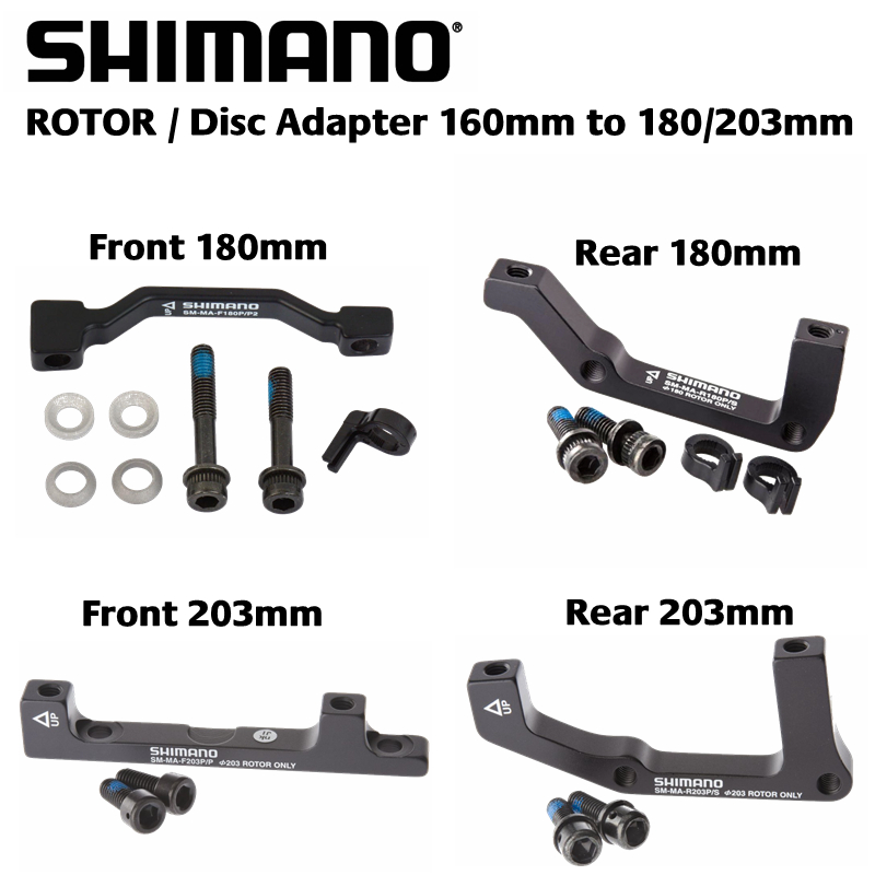 Shimano Disc Brake Adapter IS Caliper to PM Fork 203mm SM-MA-F203S//P, Front