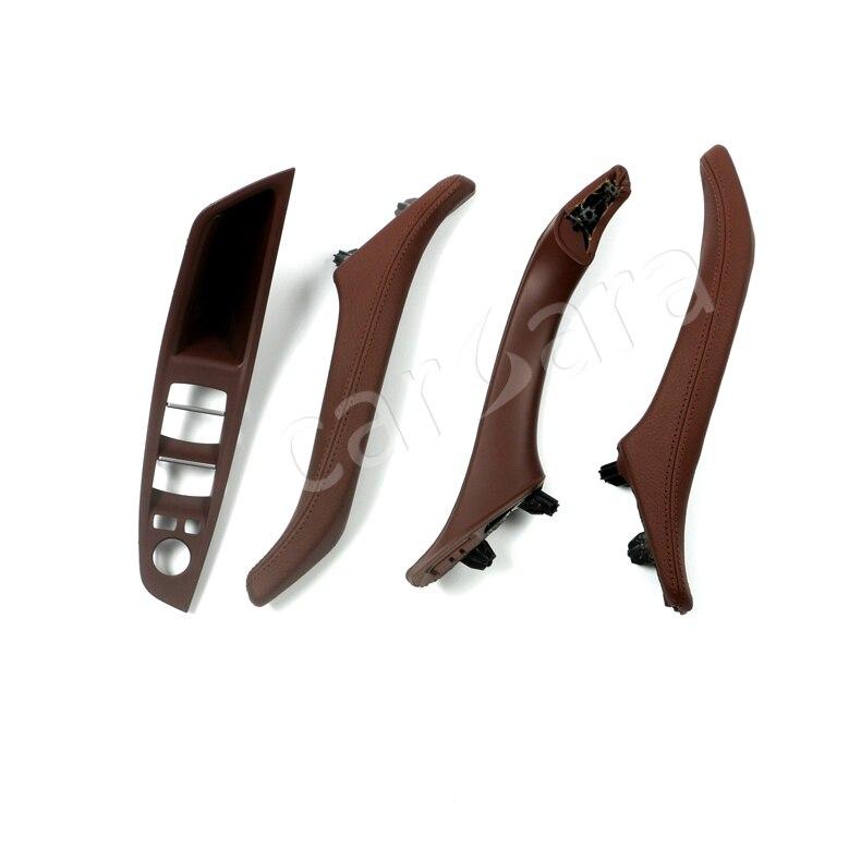 6 дополнительный цвет прочного ABS + PC материал кожаный интерьер дверные ручки набор для BMW 5 серии F10 левой для вождения