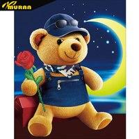 MURAN Diamond Painting Cross Stitch Animals Diamond Mosaic Painting Bears In Love 5D DIY Diamond Painting teddy bear