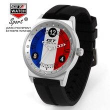 Original GT Reloj de Los Hombres de La Bandera de La Moda de Cuarzo Analógico Correa de Silicona Miltary Marca Deportiva De Lujo Reloj de Pulsera Relogio masculino