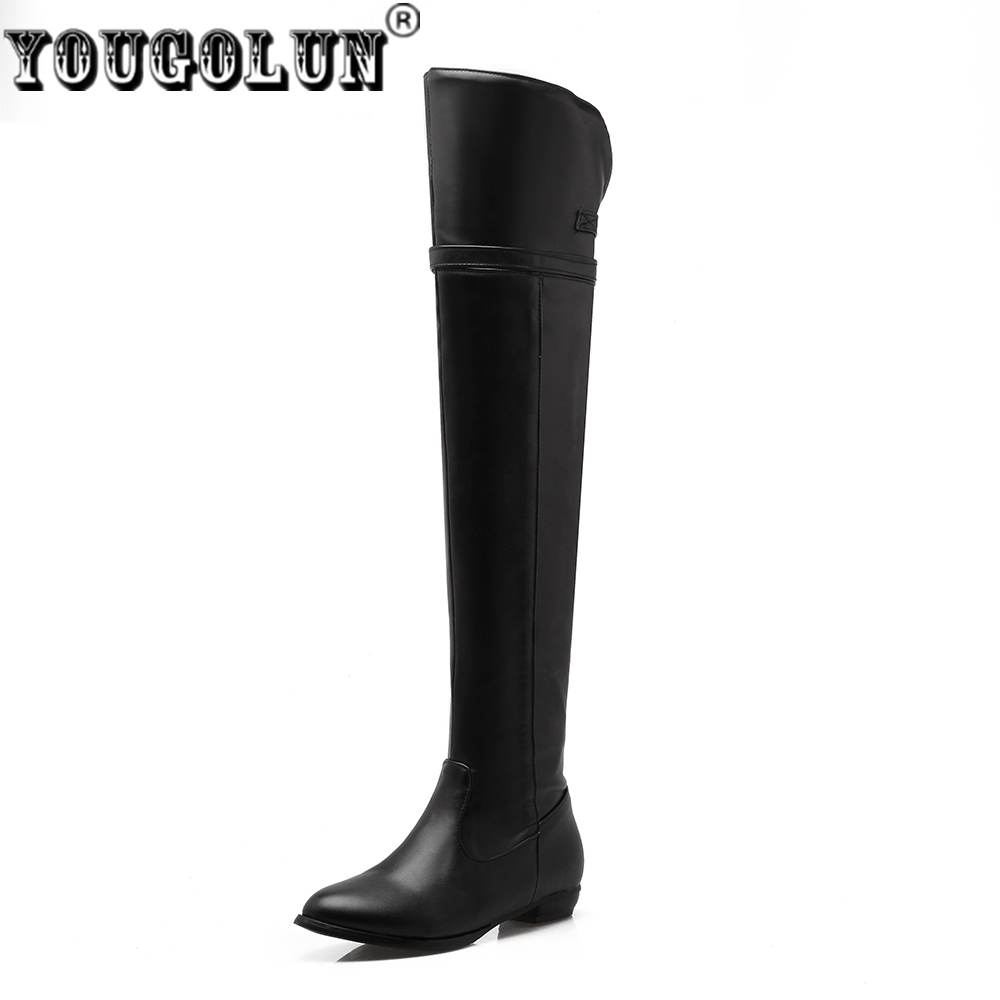 YOUGOLUN women thigh high boots women's woman over the knee boots ladies autumn winter boots women shoes plus size US 5-10.5