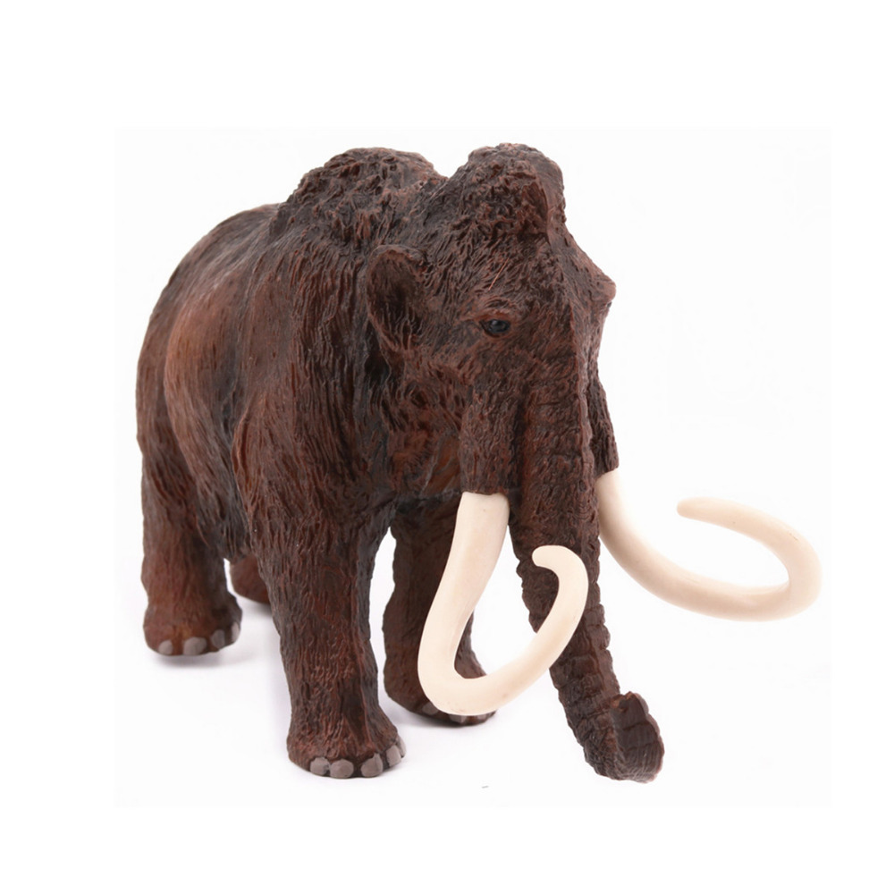 Prehistoric Mammoth Woolly Elephant Figure High Model Home Decoration Kids Toys