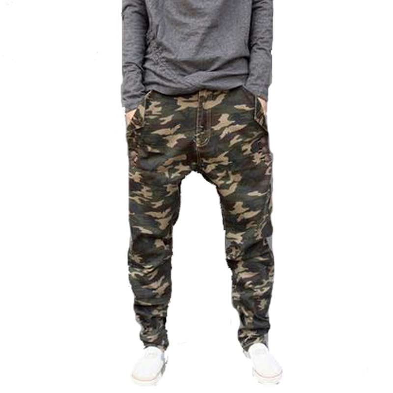 free shipping 2017 New Low rise Military skinny Men Pants Camouflage Harem Personality Male Plus Size