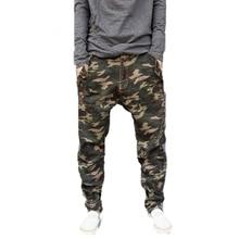 Бесплатная доставка 2017 Новых малоэтажных Военные тощие Брюки Мужчины Камуфляж Шаровары Личность Мужчины Плюс Размер брюки карандаш