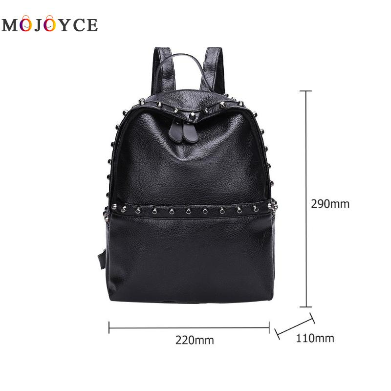 Classic Rivets Women Mini Backpacks Pu Leather Street Casual Girls Shoulder Zipper School Backpacks Mochila Feminina #6