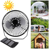 2019 Drop Shpping Waterproof Foldable 5W 6.5V Cell Solar Panel +Fan Multifunctional Universal Travel Silicon Ventilator Cooling
