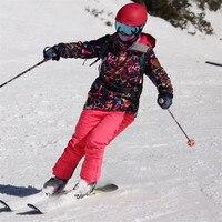 GSOU SNOW Brand лыжный костюм Для женщин лыжные куртки сноубордические брюки Водонепроницаемый Лыжный Спорт костюмы Сноубординг куртки и штаны з