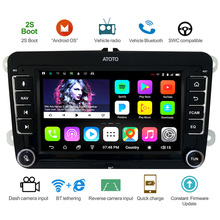 ATOTO A6 Android de Navegação GPS Do Carro Estéreo/Selecionados para VW Volkswagen Skoda &/2 * Bluetooth/Prémio a6YVW710PB/Auto Rádio Multimídia