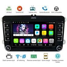 Автомобильный мультимедийный радиоприемник ATOTO A6, Android, GPS навигация, стерео, для выбранных VW Volkswagen & Skoda/2 * Bluetooth/Premium A6YVW710PB/Авто мультимедийное радио