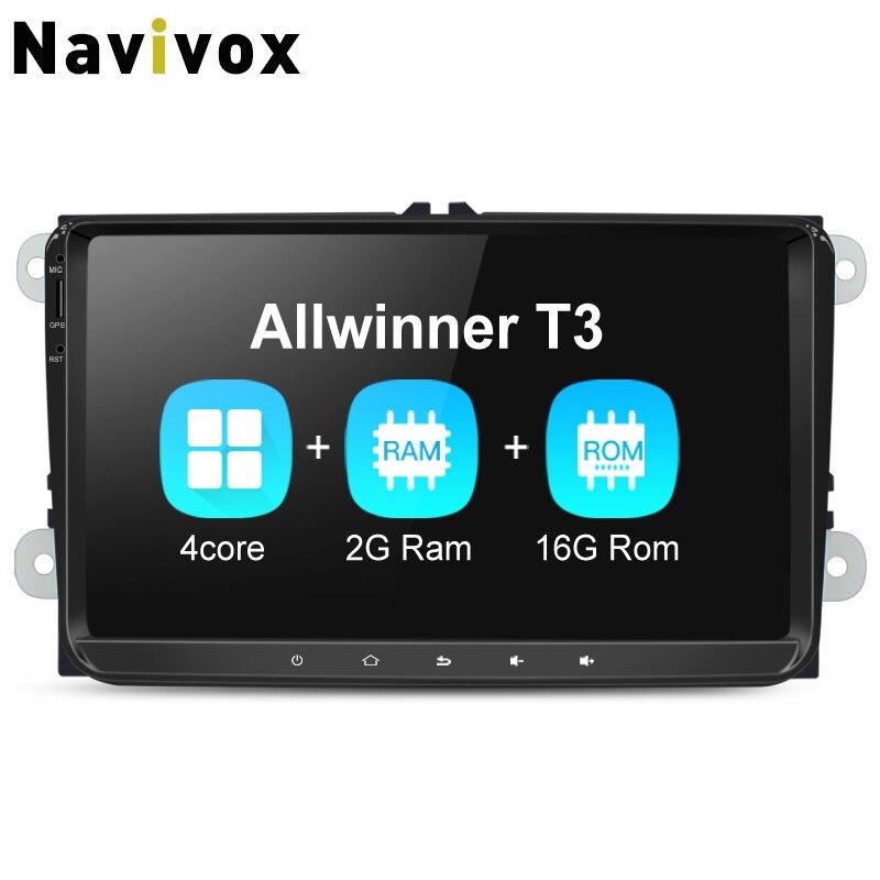 Navivox 9inch 2 din RAM2G Car Multimedia Player android7.1 Car Video Player For VW T5 B6 Golf For Skoda GPS Navigation