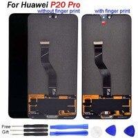 Съемные части 6,1 ЖК дисплей для huawei P20 Pro ЖК дисплей сенсорный дигитайзер в сборе с рамкой P20 Pro CLT AL01 ЖК дисплей P20 pro