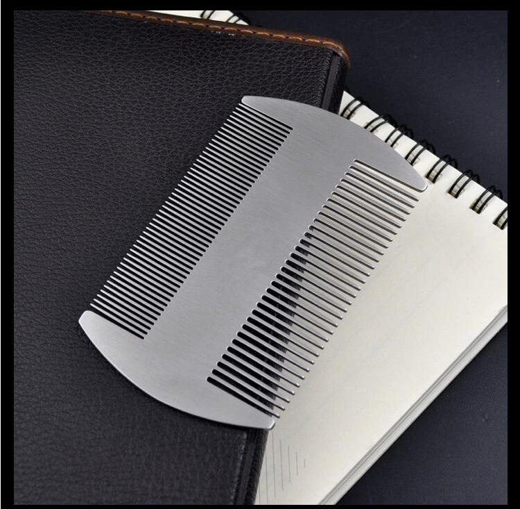 ZGTGLAD High Quality Professional Men's mustache comb Anti Static Stainless Steel Comb Can Use Bottle Opener