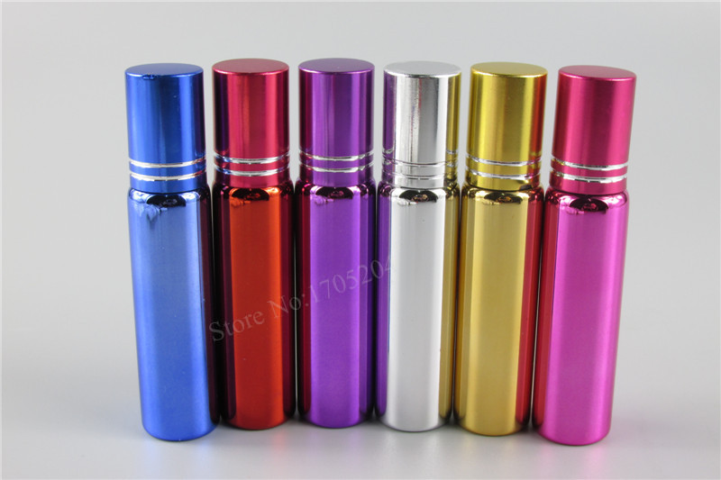30Pcs/lot 10ml perfume glass vials with roll-on ball perfume roll on glass bottle empty essential oil bottle