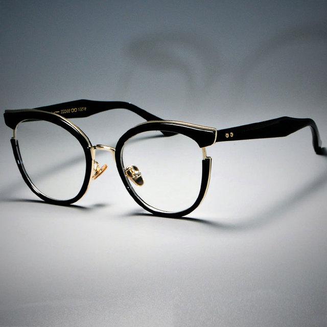 Cat Eye Metal Frame Optical Eye Glasses