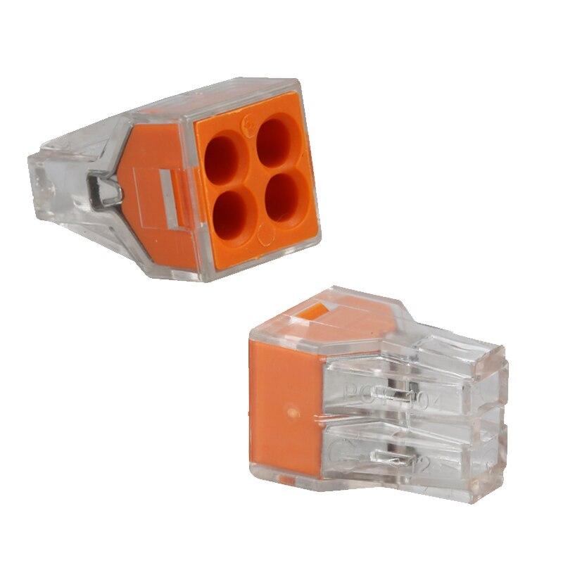 Livraison Gratuite 50 pcs fil terminal connecteur PCT104 Push Fil Connecto 4 broches Conducteur Bornier * AWG 18- 12 connecteur