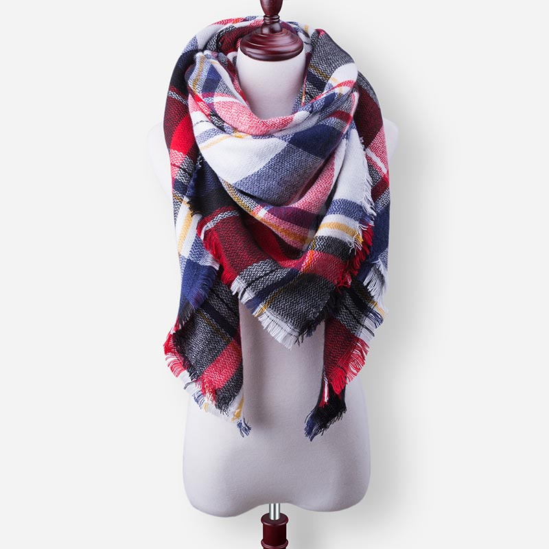Бренд Evrfelan, шарфы, Прямая поставка, женский зимний шарф, высокое качество, плед, одеяло, шарф и шаль, большой размер, плотные шарфы, шали - Цвет: W30