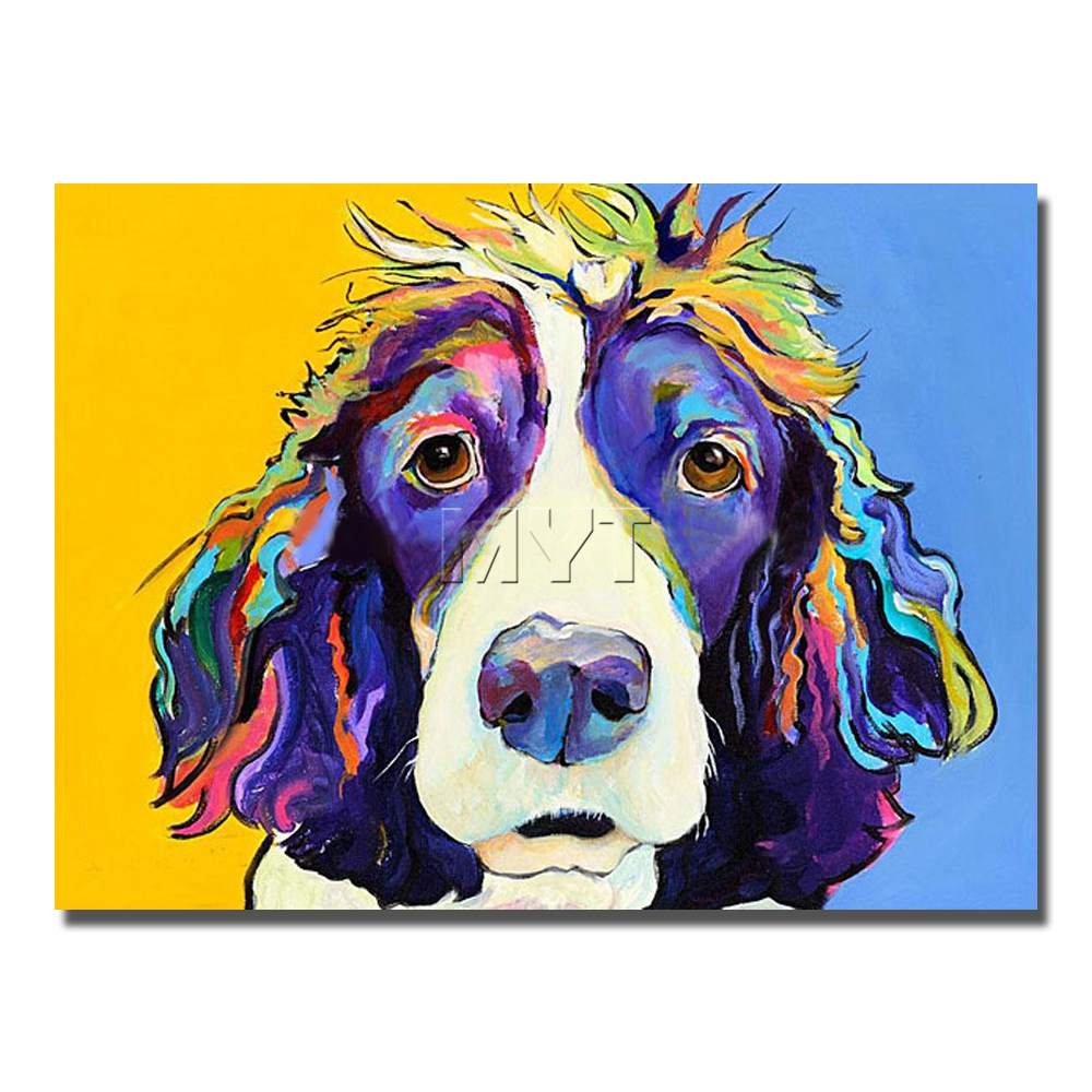 Artist Modern Dog Wall Pictures No Framed Or With Painting For Home Decor Hand Painted Decoration Animal Artwork In Calligraphy From