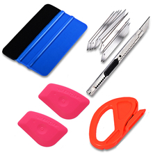 FOSHIO Car Wrapping Tool Set Carbon Fiber Film Vinyl Squeegee Auto Cutter Snap-Off Knife Window Tint Motorcycle Accessories