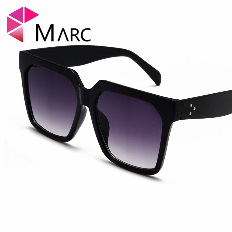 MARC Oversized Sunglasses Women Brand Vintage Rectangle Frame classic Tint Red Gradient Sun Glasses Trend oculos sol Square in Women 39 s Sunglasses from Apparel Accessories