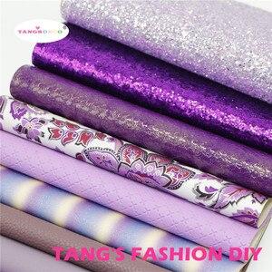 Image 3 - 12pcs High ใหม่สไตล์ผสมสีม่วงสีผสม PU หนังชุด/สังเคราะห์หนังชุด/หนังเทียม