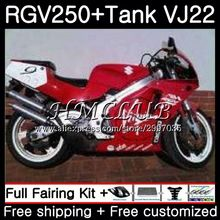 Бак для SUZUKI RGV250 1990 1991 1992 1993 1994 1995 1996 42HC. 19 RGV 250 глянцевая red hot VJ22 RGV-250 90 91 92 94 95 96 обтекатель