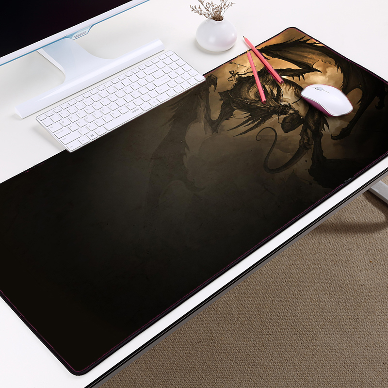 Mairuige The Cool Pictures Dragon Pattern Game Mousepad Big Size Tablemat Many Szie To Choice Locked Edge Antiskid Rubber Pc Mat