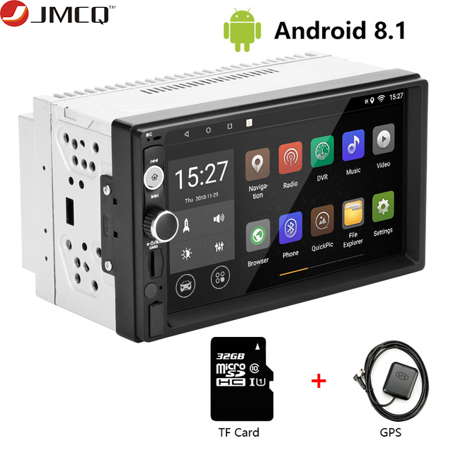 JMCQ 7 1080P Car Radio DVD GPS MP5 Player Digital Touch Screen Multimedia Player 2 Din